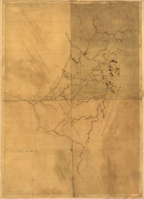 A map of the land abt. Red Stone and Fort Pitt,