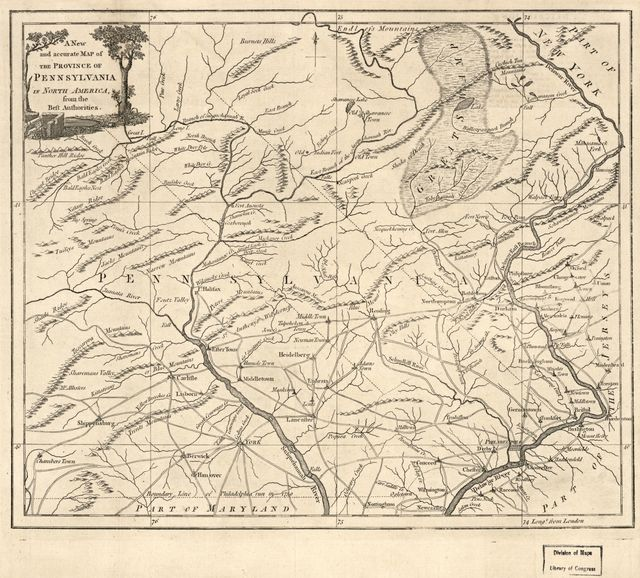 A new and accurate map of the Province of Pennsylvania, in North America : from the best authorities.