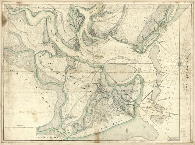 A plan of the town, bar, harbour, and environs of Charlestown in South Carolina : with all the channels, soundings, sailing-marks &c. from the surveys made in the colony.