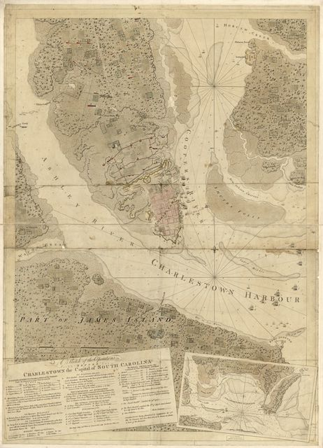 A sketch of the operations before Charlestown, the capital of South Carolina.