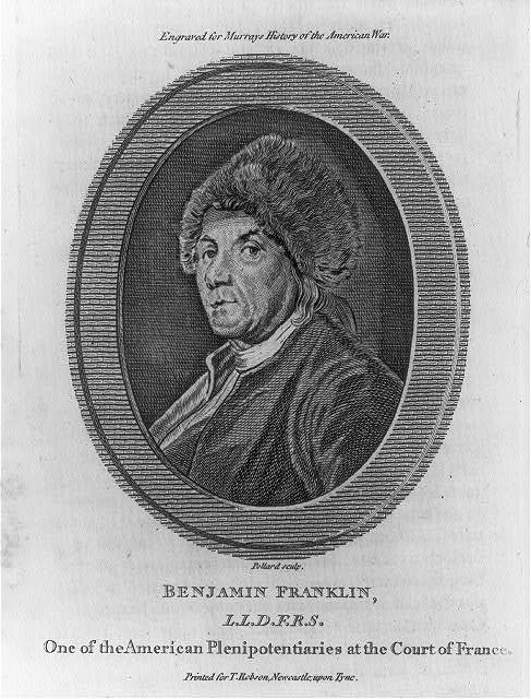 Benjamin Franklin L.L.D. F.R.S. - one of the American plenipotentiaries at the Court of France / Pollard sculp.