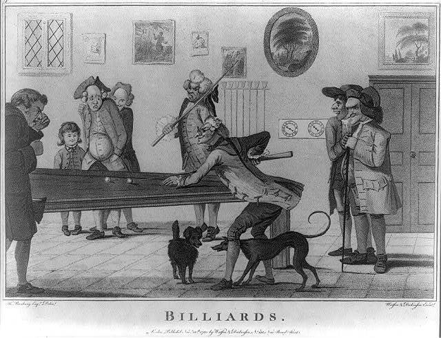 Billiards / H. Bunbury, esqr., delt. ; Watson & Dickinson, excudt.