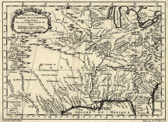 Carte de la Florida, de la Louisiane, et pays voisins : pour servir à l'Histoire générale des voyages /