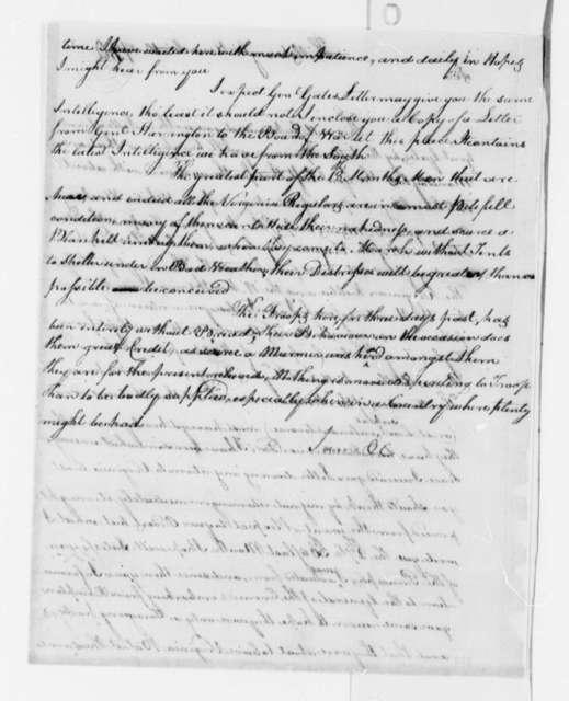 Edward Stevens to Thomas Jefferson, November 10, 1780