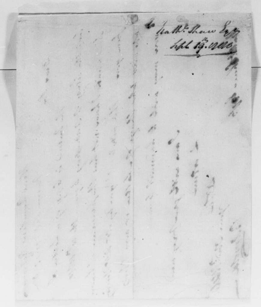 George Washington Papers, Series 4, General Correspondence: Benedict Arnold to Nathaniel Shaw, September 19, 1780