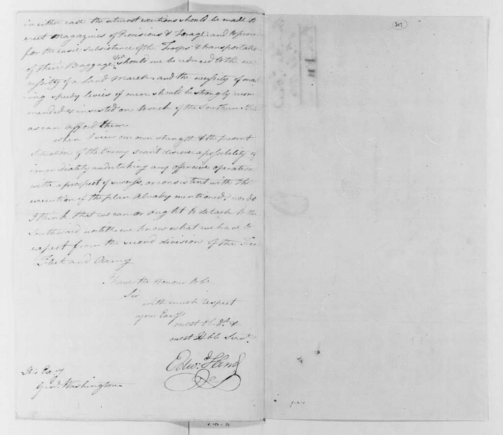 George Washington Papers, Series 4, General Correspondence: Edward Hand to George Washington, September 8, 1780