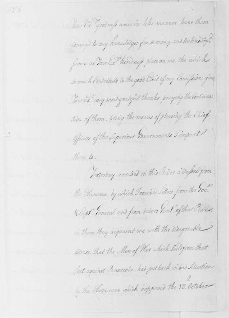 George Washington Papers, Series 4, General Correspondence: Francisco Rendon to George Washington, December 26, 1780