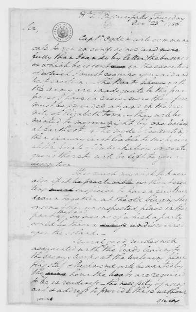 George Washington Papers, Series 4, General Correspondence: George Washington to William Crane, November 23, 1780