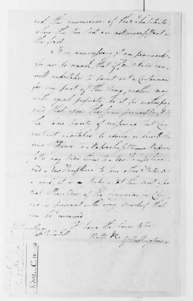 George Washington Papers, Series 4, General Correspondence: George Washington to Jonathan Trumbull, December 17, 1780