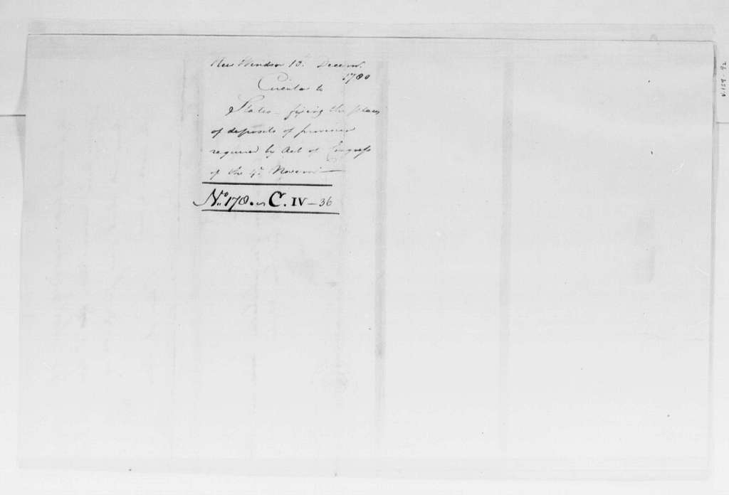 George Washington Papers, Series 4, General Correspondence: George Washington, December 10, 1780, Circular Letter to States