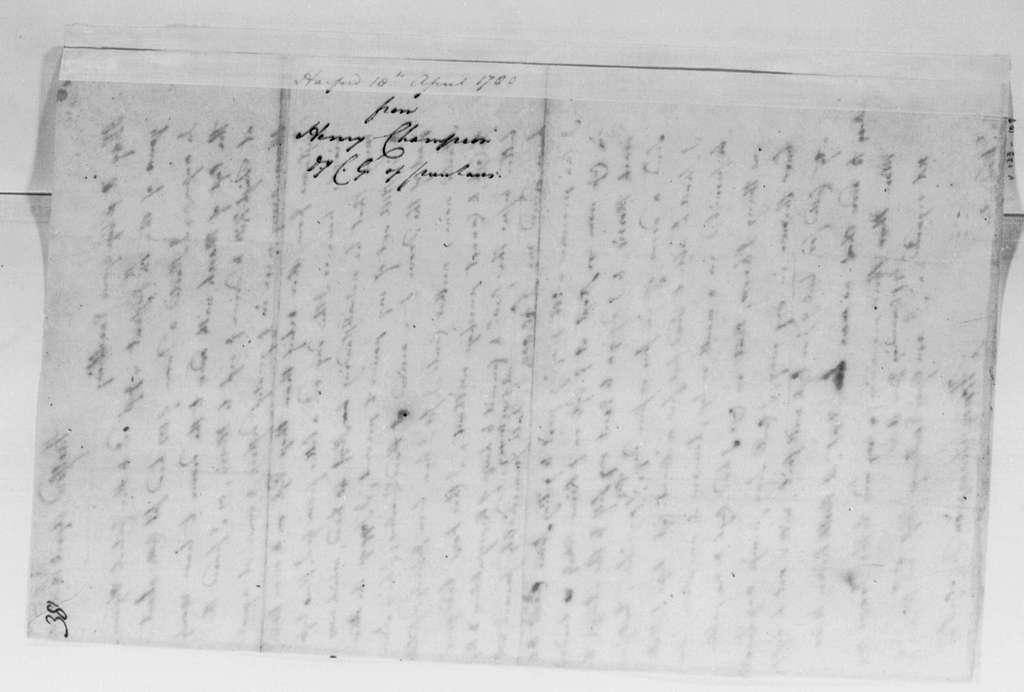 George Washington Papers, Series 4, General Correspondence: Henry Champion to George Washington, April 18, 1780