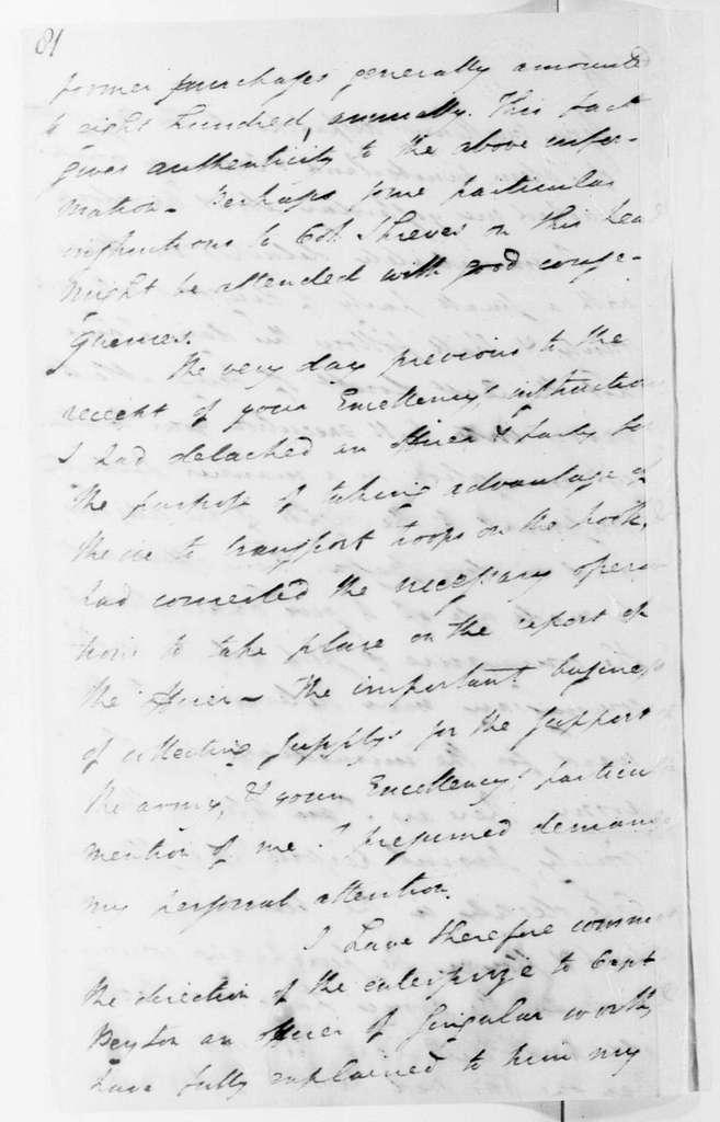 George Washington Papers, Series 4, General Correspondence: Henry Lee Jr. to George Washington, January 13, 1780