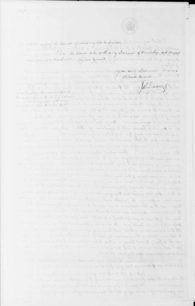 George Washington Papers, Series 4, General Correspondence: James Duane to George Washington, December 9, 1780