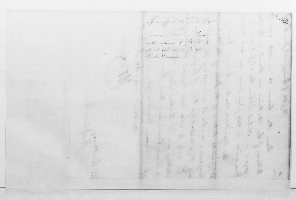 George Washington Papers, Series 4, General Correspondence: James Wilkinson to George Washington, June 12, 1780