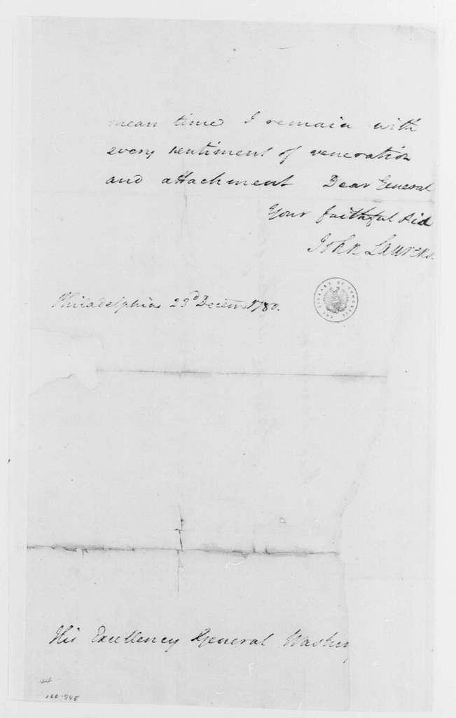 George Washington Papers, Series 4, General Correspondence: John Laurens to George Washington, December 23, 1780