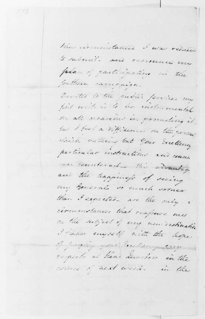 George Washington Papers, Series 4, General Correspondence: John Laurens to George Washington, December 23, 1780