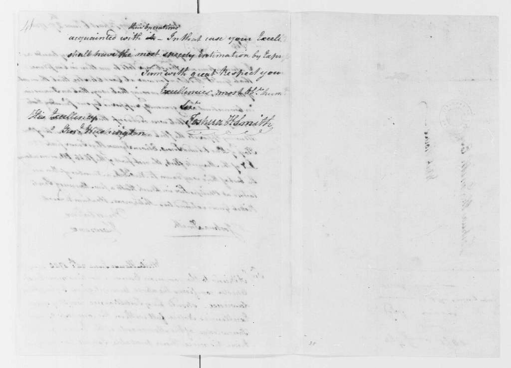 George Washington Papers, Series 4, General Correspondence: Jonathan Lawrence to Joshua H. Smith, June 27, 1780