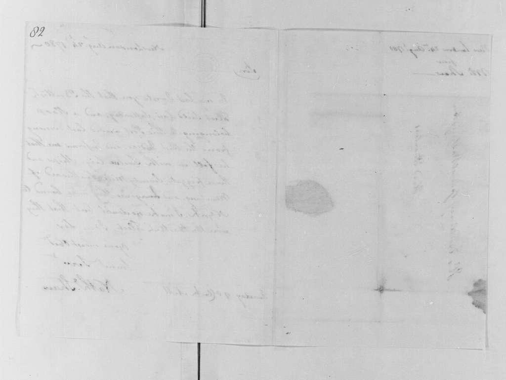 George Washington Papers, Series 4, General Correspondence: Nathaniel Shaw to George Washington, August 24, 1780