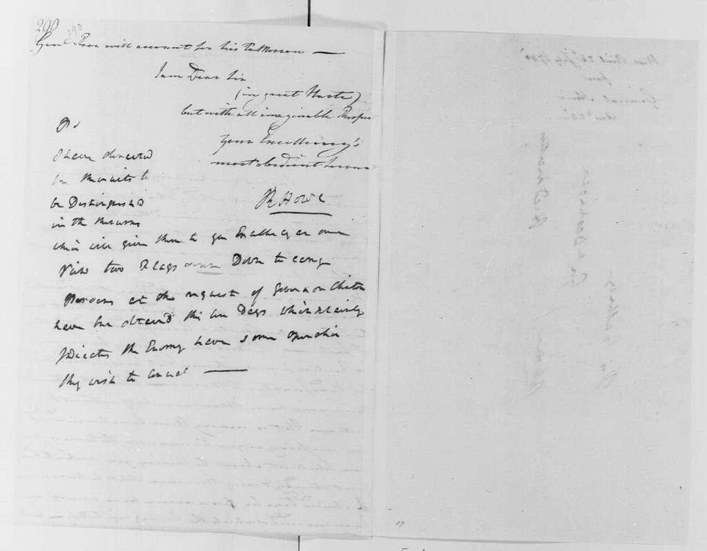 George Washington Papers, Series 4, General Correspondence: Robert Howe to George Washington, July 26, 1780