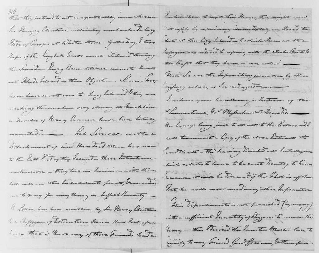 George Washington Papers, Series 4, General Correspondence: Robert Howe to George Washington, July 28, 1780