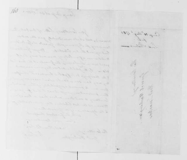 George Washington Papers, Series 4, General Correspondence: William Alexander, Lord Stirling to George Washington, August 30, 1780