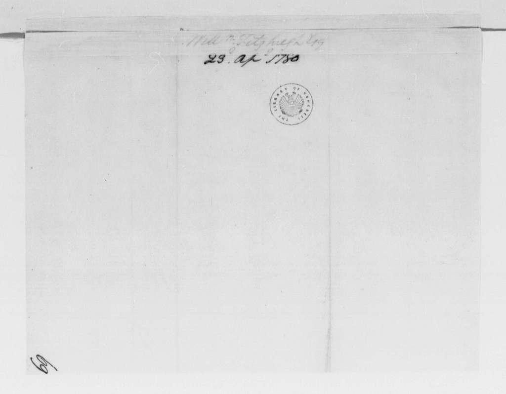 George Washington Papers, Series 4, General Correspondence: William Fitzhugh to George Washington, April 23, 1780