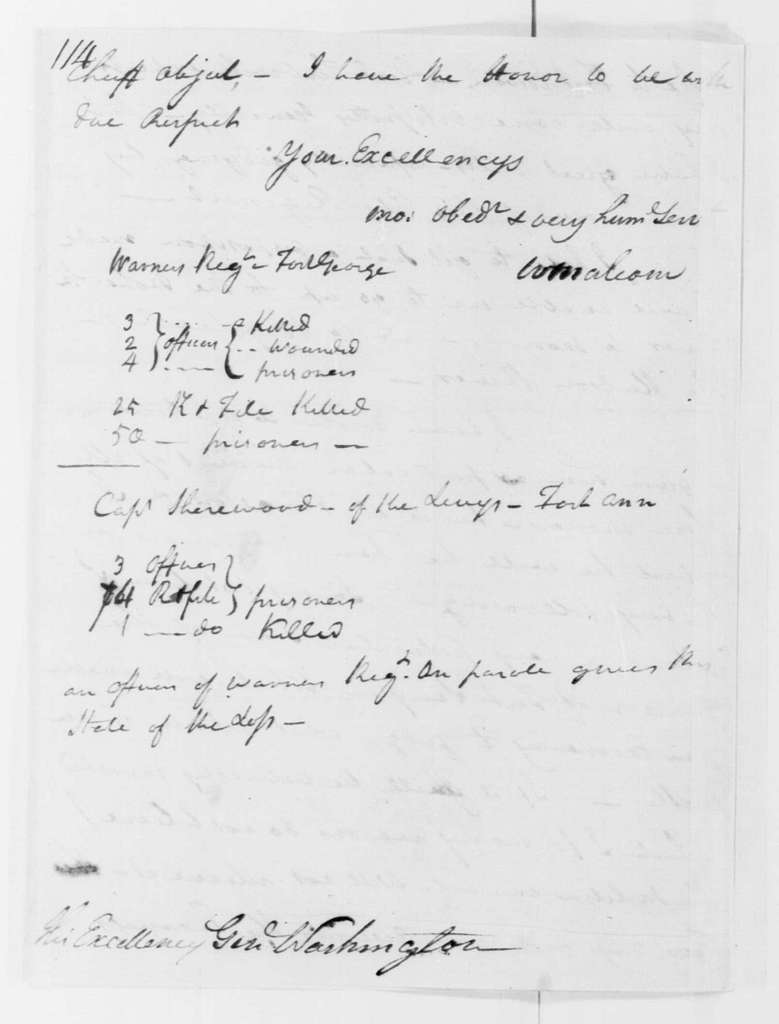 George Washington Papers, Series 4, General Correspondence: William Malcom to George Washington, October 12, 1780