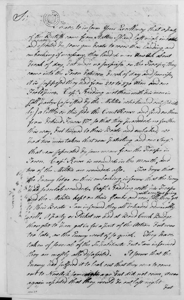 George Washington Papers, Series 4, General Correspondence: William Maxwell to George Washington, May 26, 1780