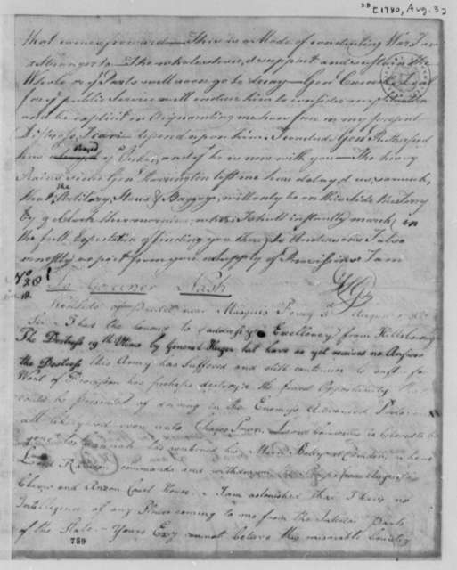 Horatio Gates to Abner Nash, August 3, 1780