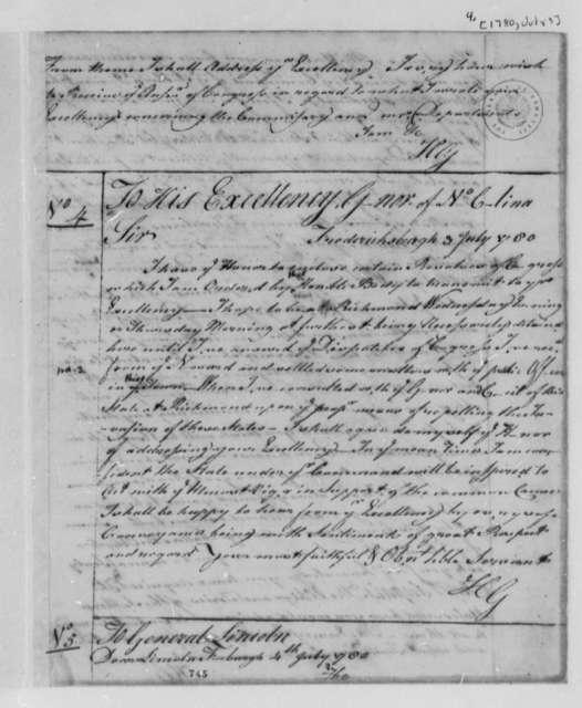 Horatio Gates to Abner Nash, July 3, 1780