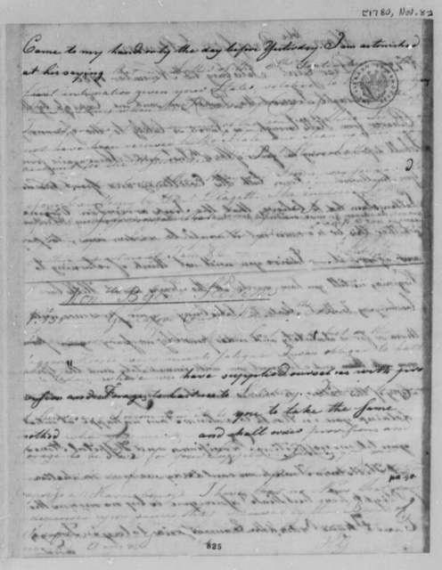 Horatio Gates to Edward Stevens, November 8, 1780