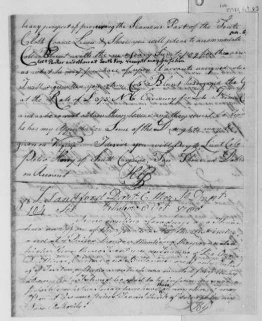 Horatio Gates to John S. Dart, October 8, 1780