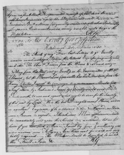 Horatio Gates to Thomas Jefferson, September 24, 1780
