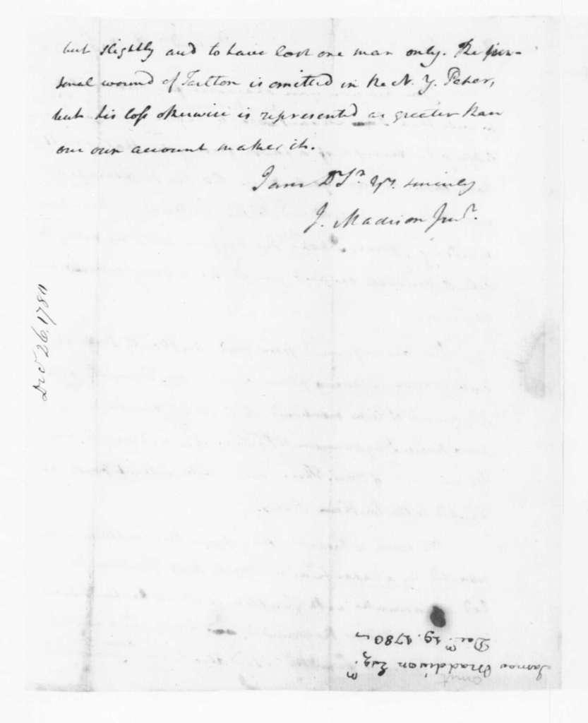 James Madison to Edmund Pendleton, December 19, 1780.