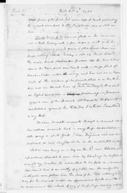 James Madison to Edmund Pendleton, October 10, 1780.