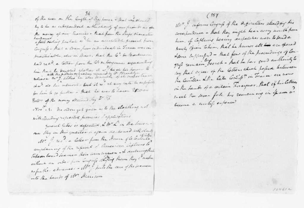 John Jay to Samuel Huntington, November 6, 1780.