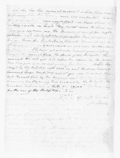 Joseph Jones to James Madison, November 18, 1780.
