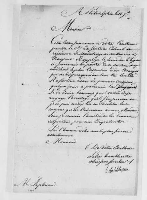 La Luzerne to Thomas Jefferson, December 18, 1780, in French; with Copy