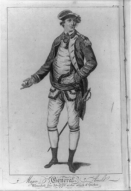 Major General Arnold Wounded Dec. 31-1775 at the attack of Quebec.