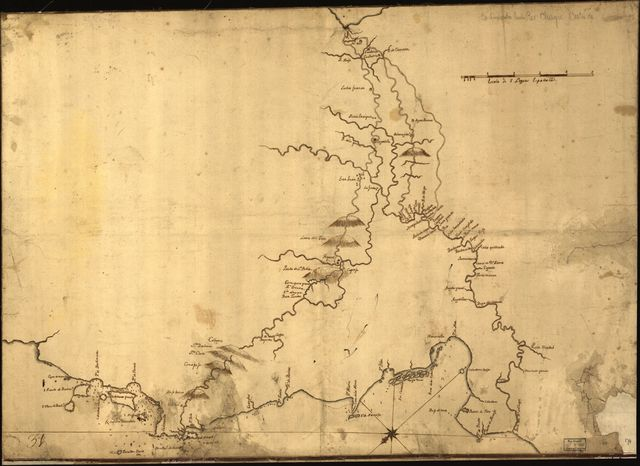 [Map of central Panama showing Chagres River and its tributaries].