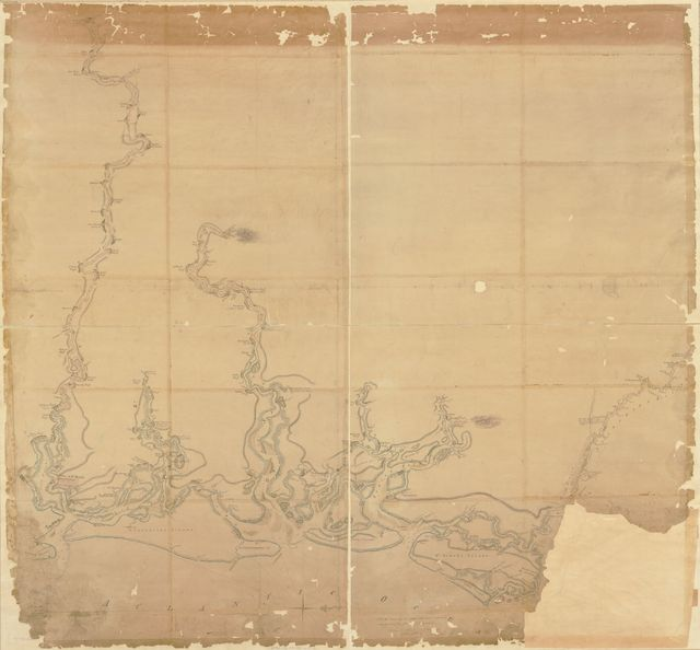 [Map of the coast of Georgia, bordering on Camden and Glynn counties, showing also the course and soundings of the Alatamaha, Turtle, Crooked, St. Mary's, Great Satilla, and Little Satilla rivers.]