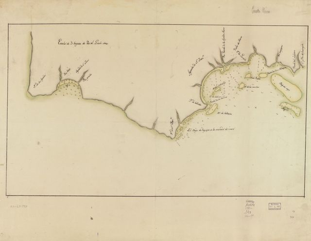 [Map showing coast in the regions of Aguadilla, Añasco, and Mayagüez].