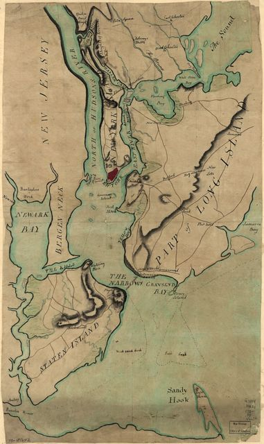 [Plan of New York and Staten Islands with part of Long Island.