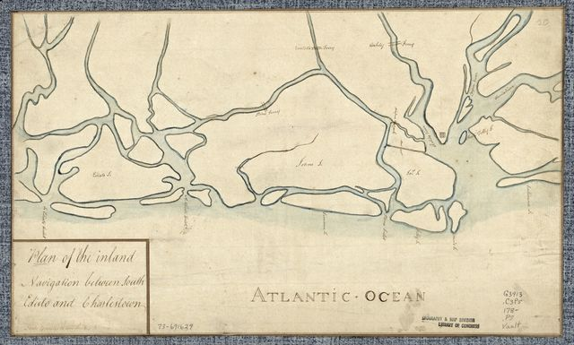 Plan of the inland navigation between South Edisto and Charlestown.