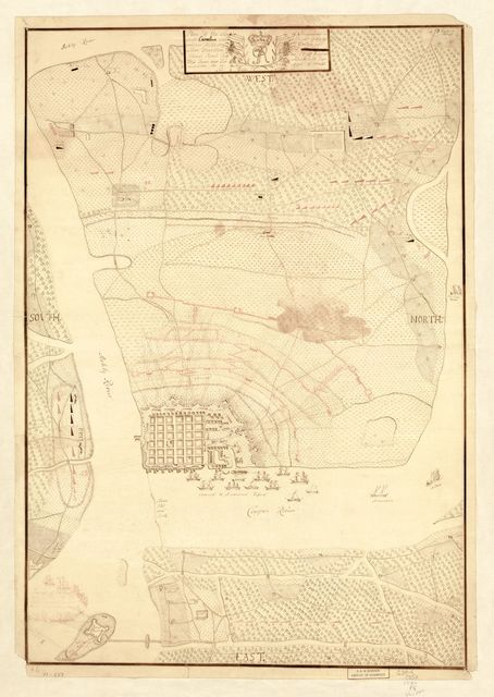 Plan of the siege of Charles Town in South Carolina under command of His Excellence Sir Henry Clinton and under direction of ... Collonel Mount-Crieff as chief ingener, this town was surrendered with capitulation the 12. May 1780 after 6 weeks and 3 days siege.