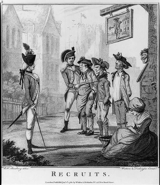 Recruits / W. H. Bunbury, delint. ; Watson & Dickinson, excudt.