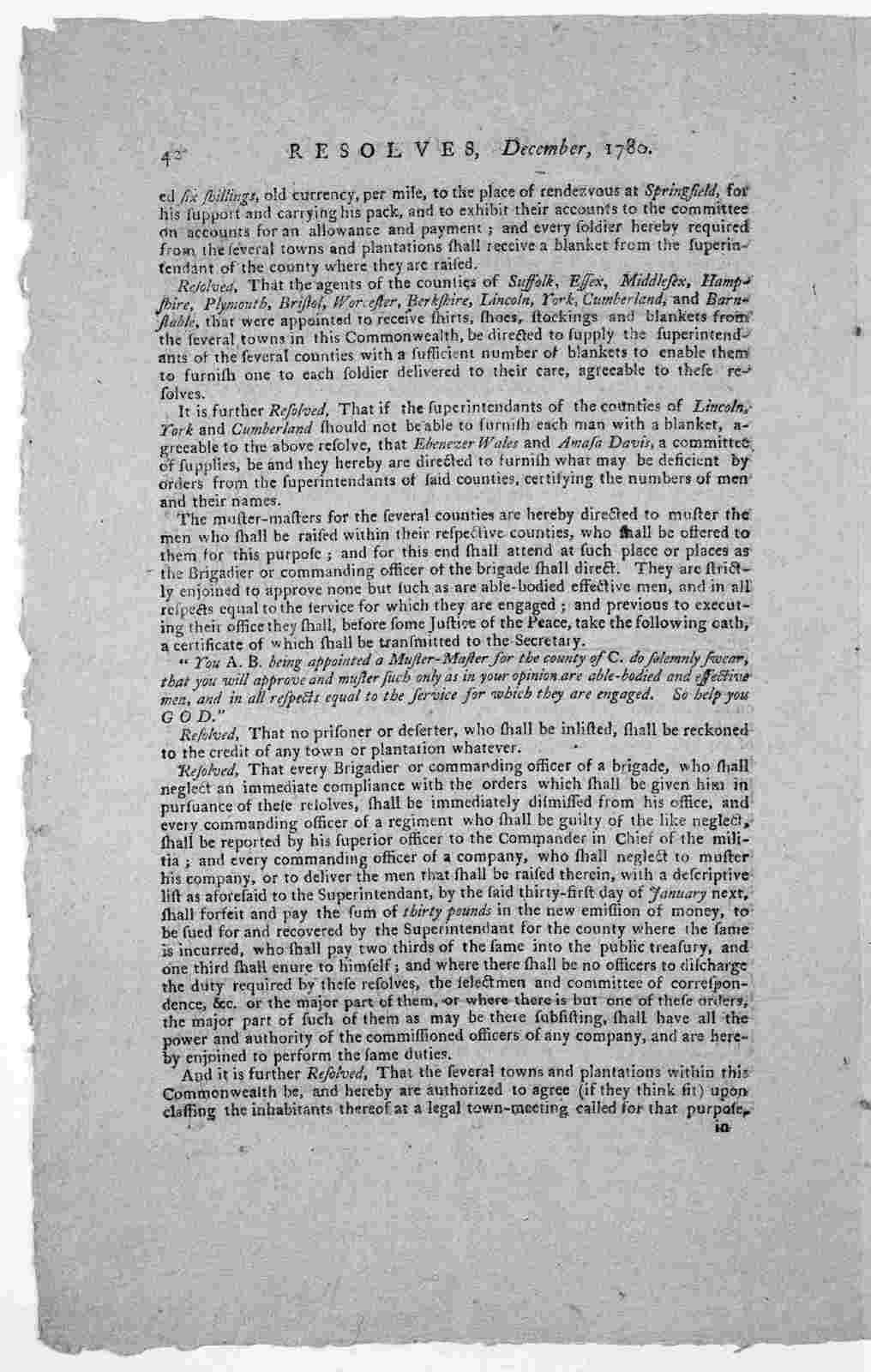Resolves Dec. 1780.