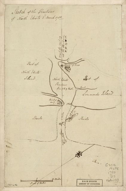 Sketch of the harbour of North Edisto, 2d March 1780.