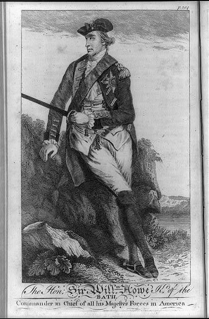 The Hon. Sir Willm. Howe Kt. of the Bath, commander in chief of all his majesty's forces in America