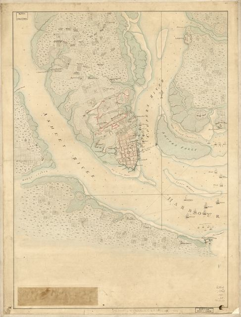 [The Investiture of Charleston, S.C. by the English army, in 1780. With the position of each corps.